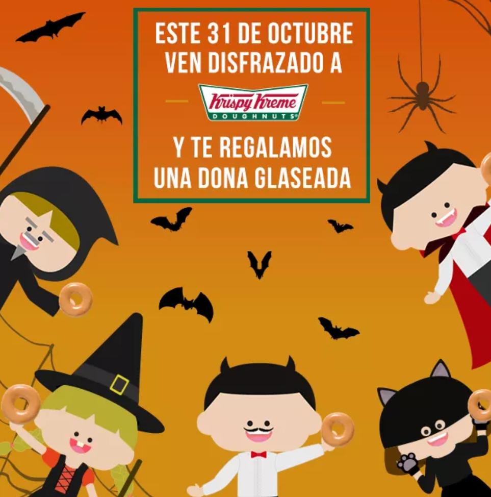 Krispy Kreme: Gratis una dona si vas disfrazado