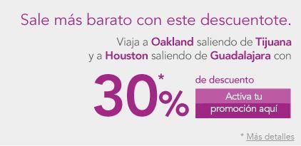 Volaris: nuevas rutas GDL- Houston y Tijuana - Oakland desde $258 dólares