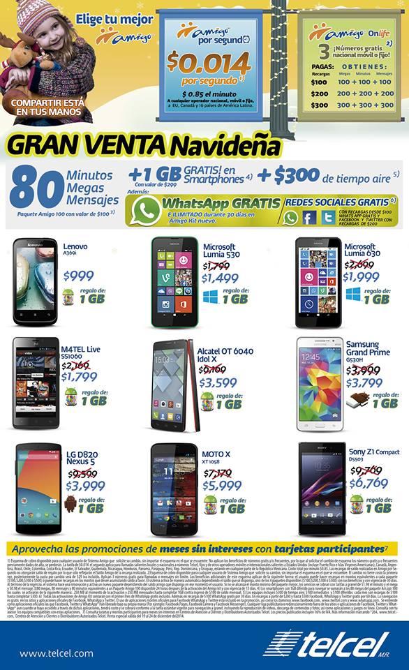 CAC Telcel: Nexus 5 a $3999