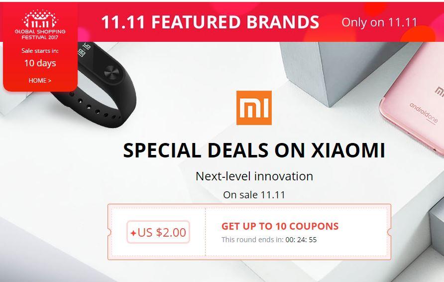 AliExpress: Special Deals on Xiaomi, venta especial el 11 de noviembre