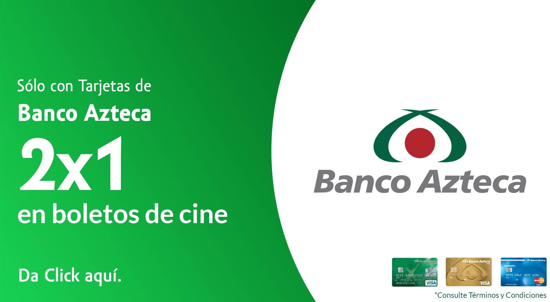Undostres: Boletos para Cinepolis o Cinemex al 2x1 pagando con tarjeta Banco Azteca (Usuarios Nuevos)
