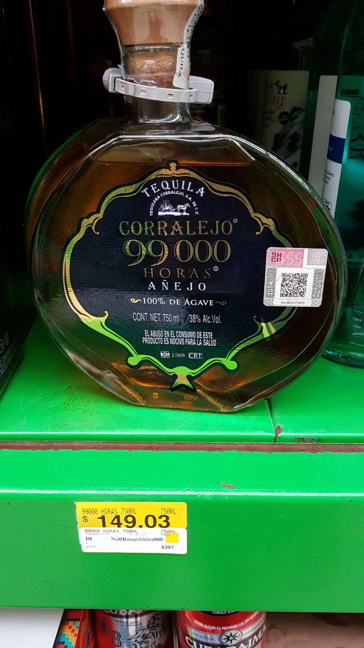 Bodega Aurrerá: licores en su primera liquidación, por ejemplo Tequila Corralejo de 750ml $149.03