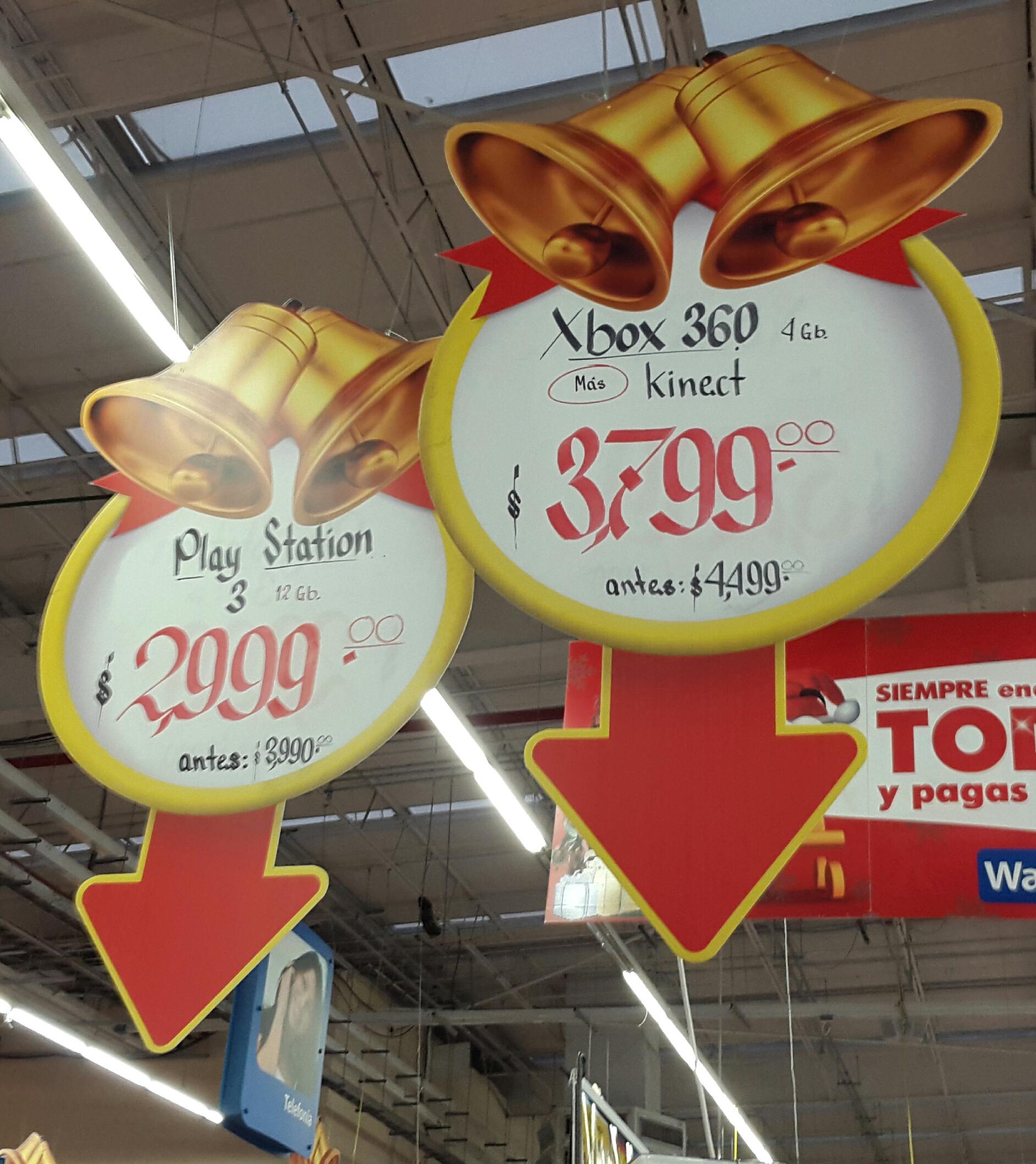 Walmart: XBOX 360 $3,799 ó PS3 $2,999
