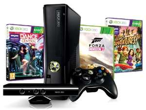 MiPC: CONSOLA XBOX 360 4GB + KINECT + K ADVENTURES + DANCE CENTRAL + FORZA HORIZON