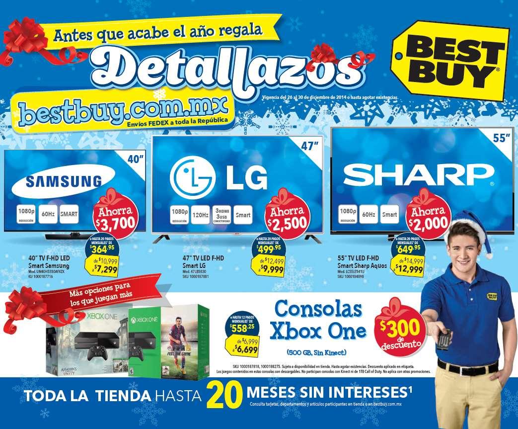 Folleto de ofertas en Best Buy del 26 al 30 de diciembre