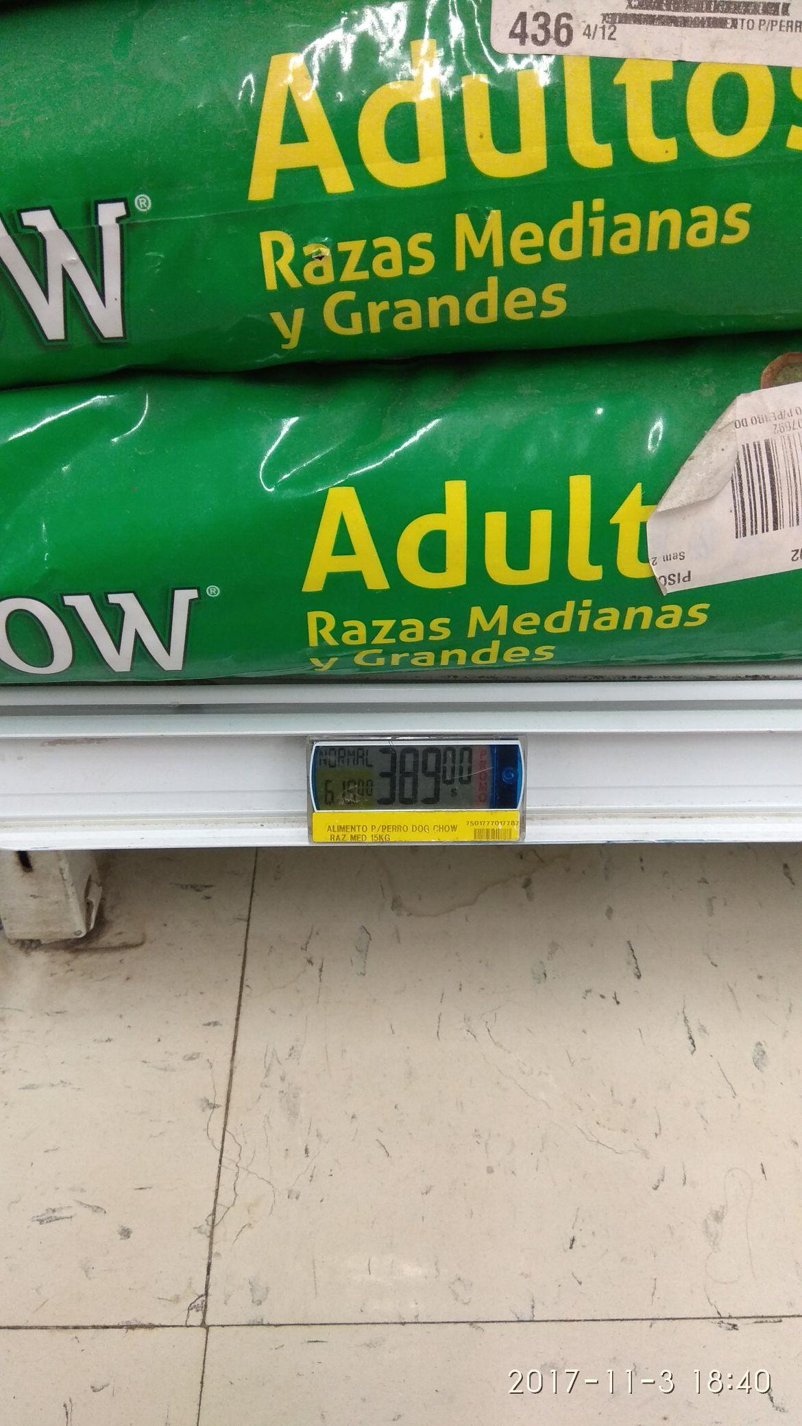 Soriana: Dog chow 15 kg en $389