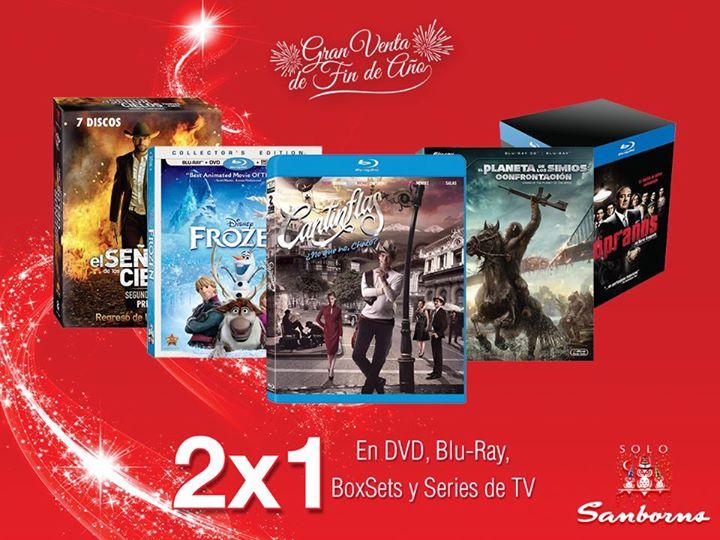 Sanborns: 2x1 en DVDs y blu-rays
