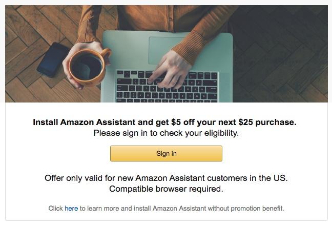 Amazon USA, descuento de $5 USD en compras de $25 USD o mas.