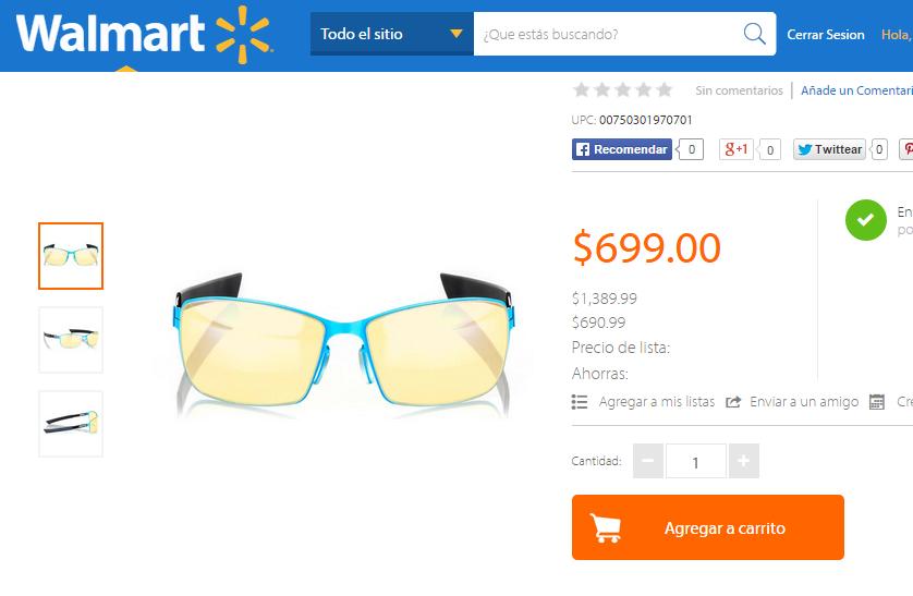 Walmart: Lentes Gunnars Vayper - Neptune $699