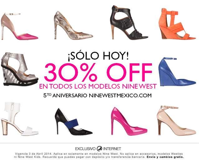 Aniversario Nine West: 30% de descuento en todos los modelos