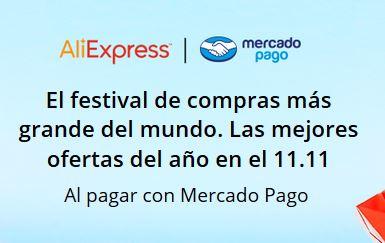 Aliexpress: Codigo de $100 con Mercadopago para el 11.11