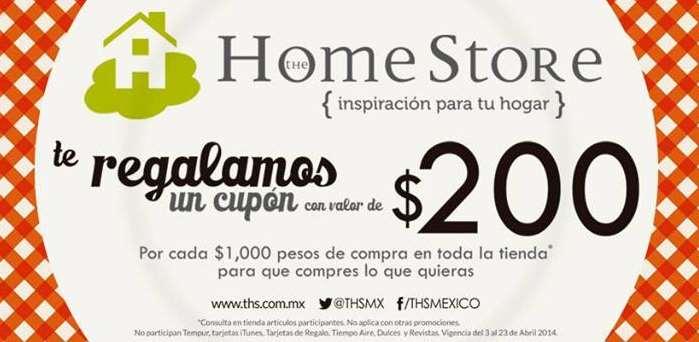 The Home Store: $200 de bonificación por cada $1,000 de compra