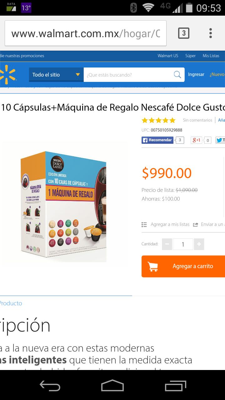 Walmart: Paquete dolce gusto en oferta