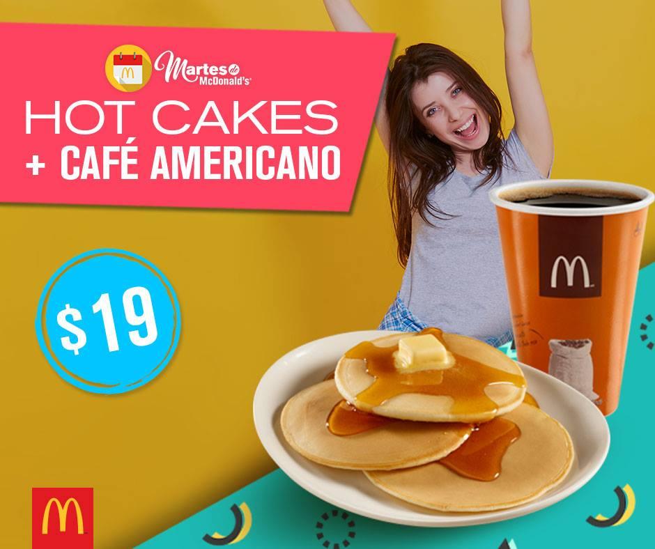 Martes de McDonald's: Hot Cakes + Café Americano a $19