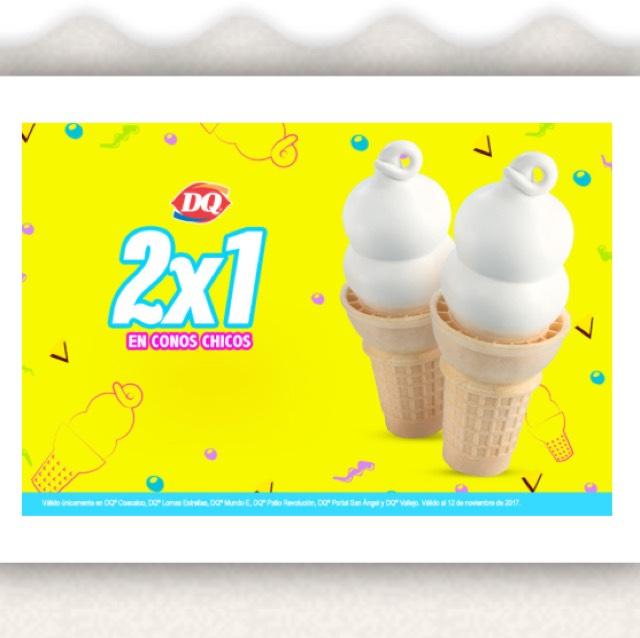 Dairy Queen CDMX: Cupón para un 2x1 en conos chicos