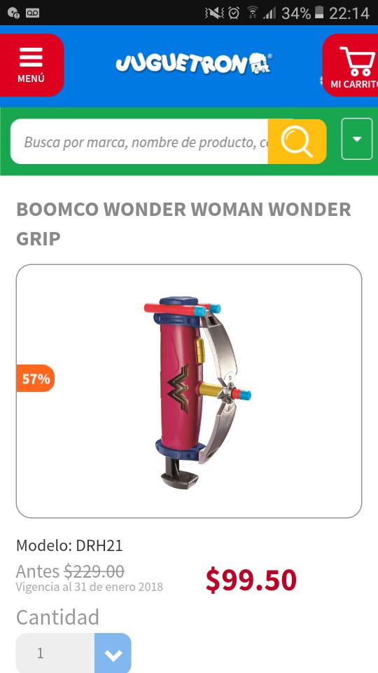 Juguetron BOOMCO WONDER WOMAN WONDER GRIP 99.50