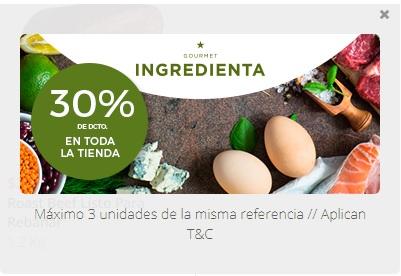 Mercadoni: 30% de descuento en toda la tienda INGREDIENTA