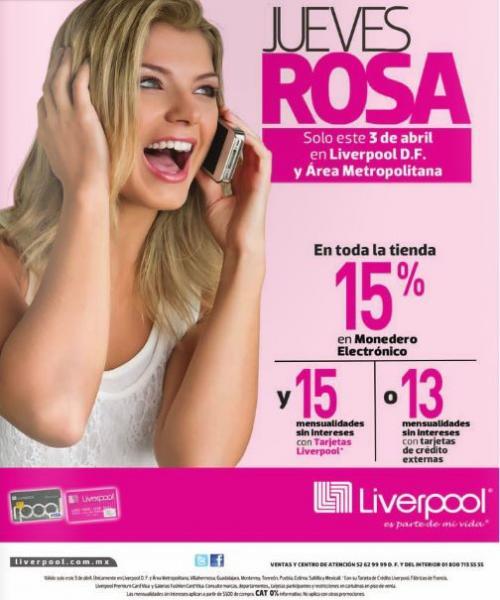 Liverpool: jueves rosa 3 de abril