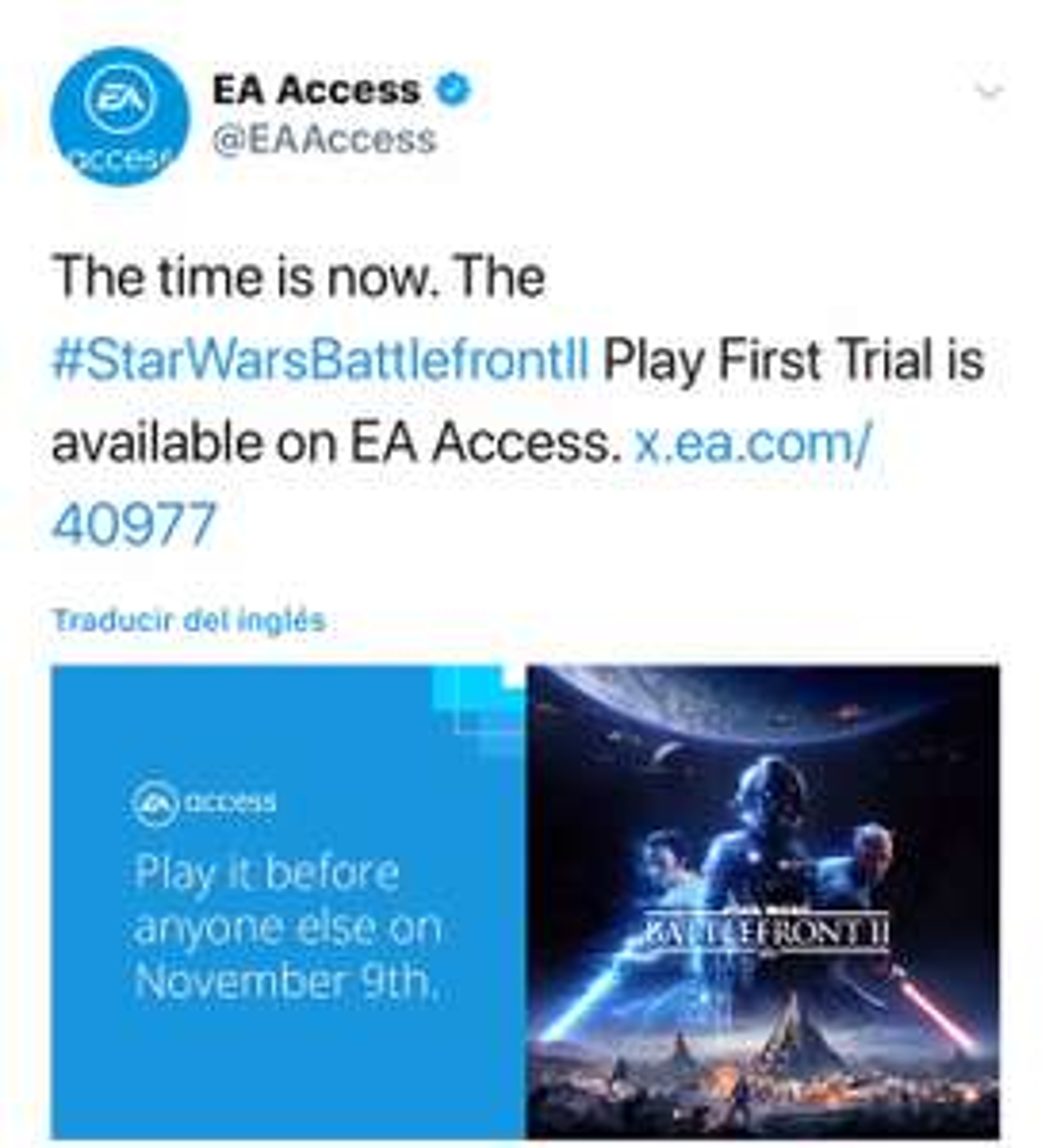 Microsoft Store: STAR WARS™ Battlefront™ II prueba gratis con EA Access