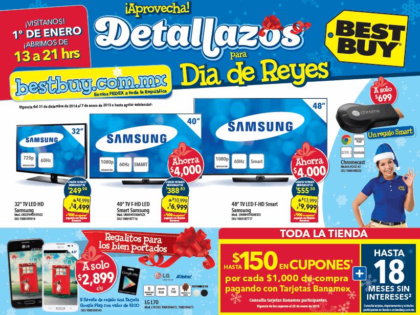 Folleto de ofertas en Best Buy del 31 de diciembre al 7 de enero