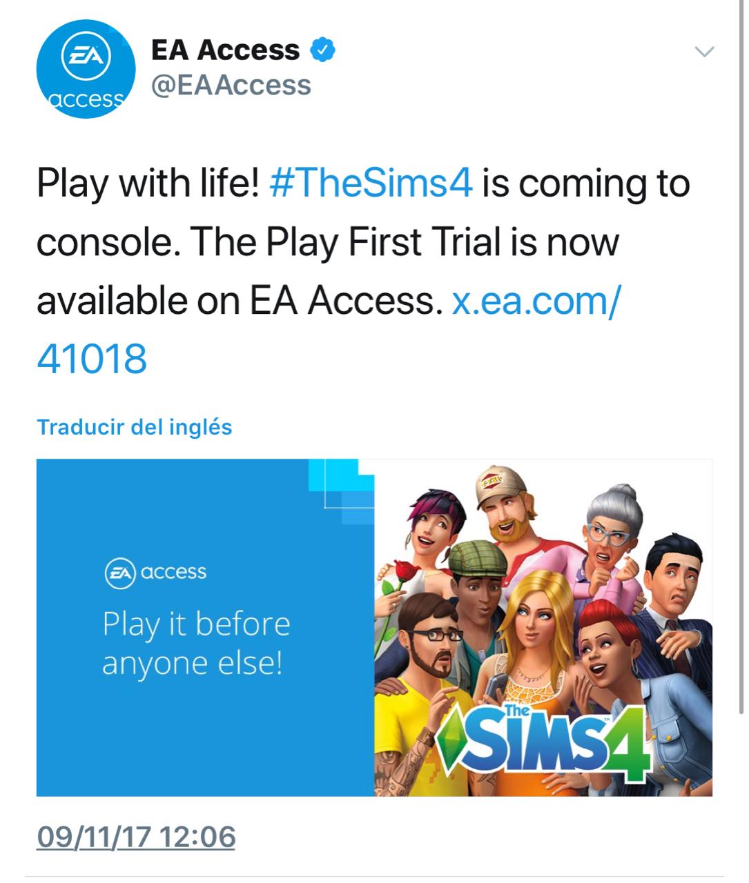 Microsoft Store: The SIMS™ 4 - prueba gratis con EA Access