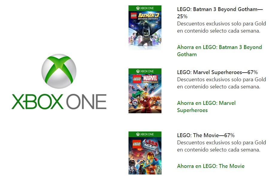 Xbox Store: Deals With Gold / descuento en juegos de Lego
