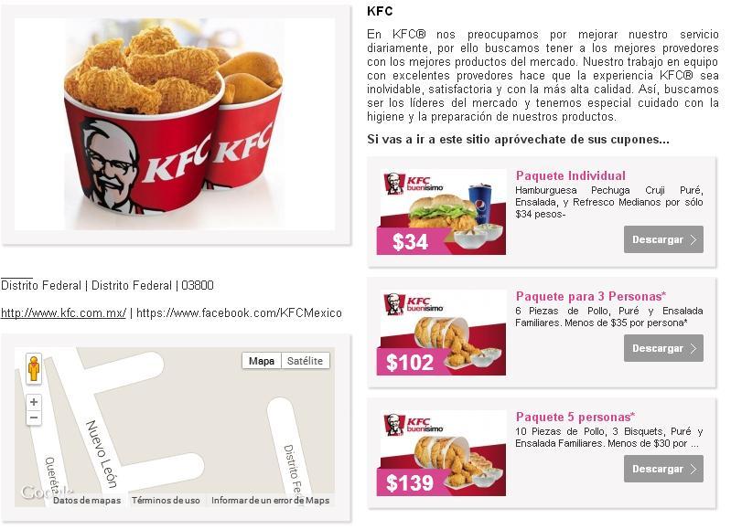 TRES OPCIONES PARA COMERNOS UN POLLITO DE KFC