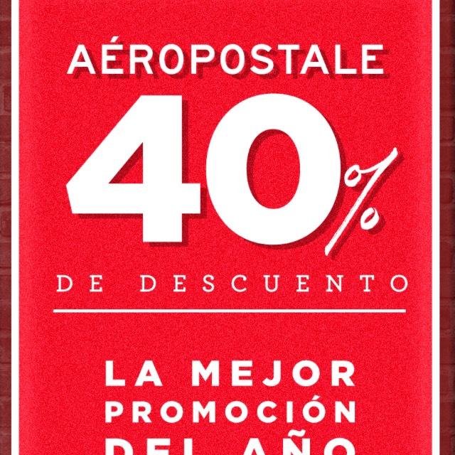 Ofertas Buen Fin 2017 Aeropostale: 40% de Descuento en tiendas y boutiques