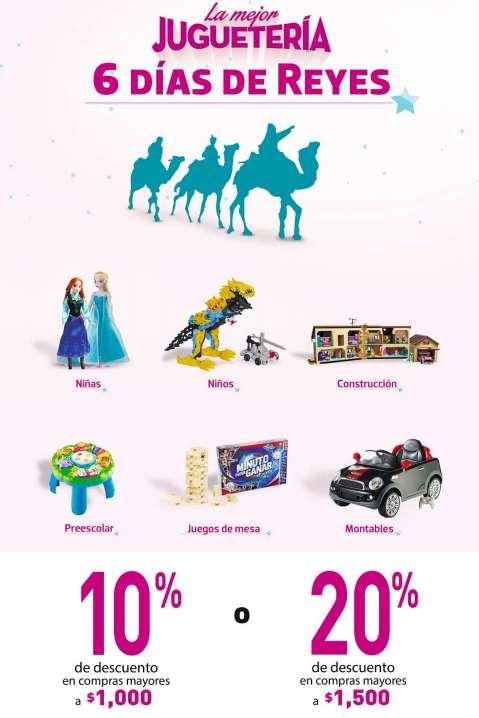 Liverpool 6 días de reyes: 20% de descuento en juguetes con compra mínima