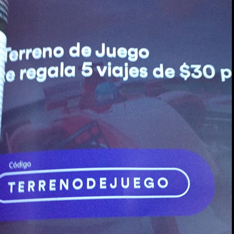 Cabify: Cupón de $30 de descuento en 5 viajes (Nuevos Usuarios)
