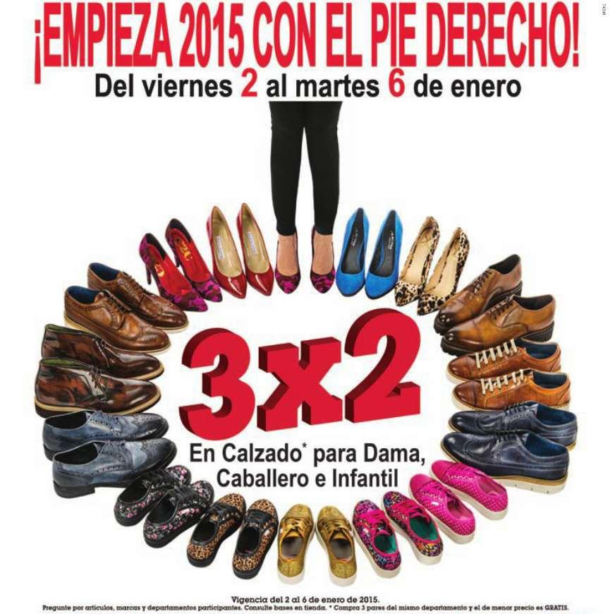 Sears: 3x2 en calzado