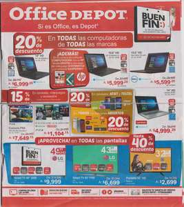 Folleto de ofertas del Buen Fin 2017 en office depot.