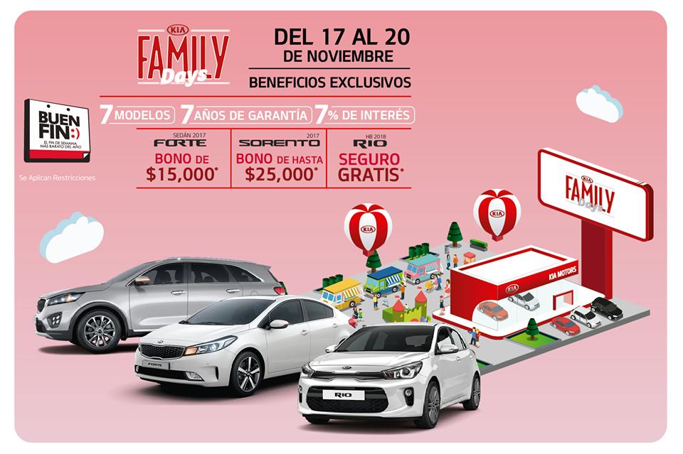 Ofertas El Buen Fin 2017 KIA Autos: bono de hasta $25,000 o seguro gratis dependiendo del modelo