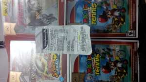 Bodega Aurrera : $99 - Wii Zelda Twilight princess, Mario Tennis, Mario Strikers