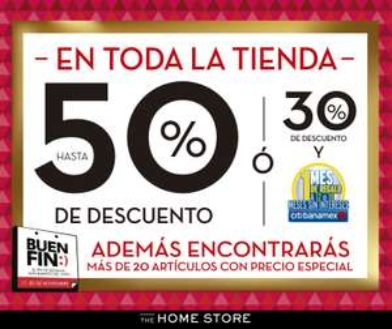 Ofertas El Buen Fin 2017 en The Home Store