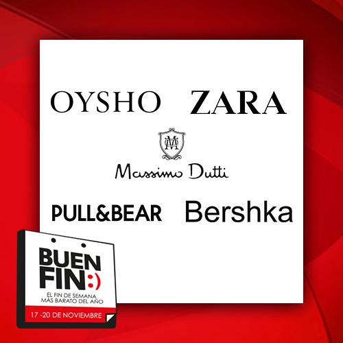 Ofertas del Buen Fin 2017 en tiendas Zara, Pull & Bear, Bershka y Grupo Inditex