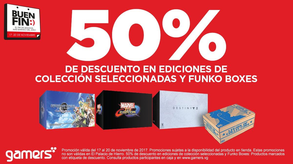 Ofertas El Buen Fin 2017 en Gamers: hasta 50% de descuento en ediciones de colección, funko boxes y más