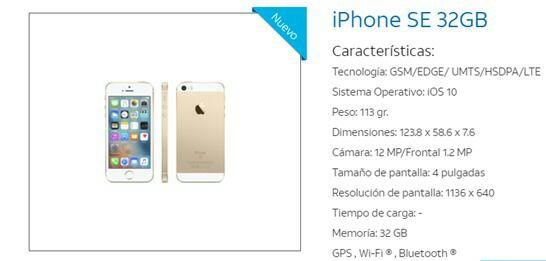 At&t: iPhone SE 32gb Gratis en Plan 499