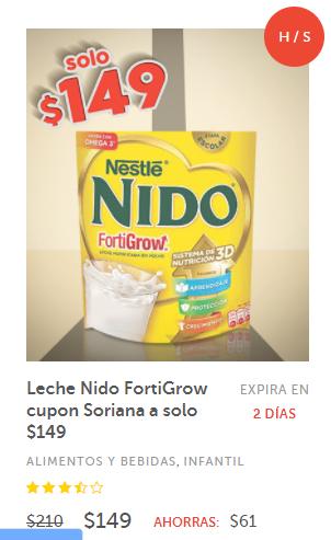 Soriana Soriticket: Leche Nido FortiGrow 2KG