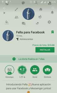 Google Play: Gratis Fella para Facebook