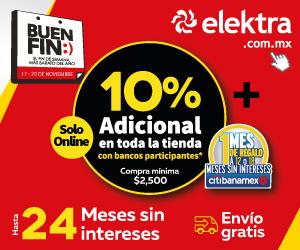 Ofertas del Buen Fin 2017 en Elektra: 10% extra en todo con varias tarjetas de crédito y débito