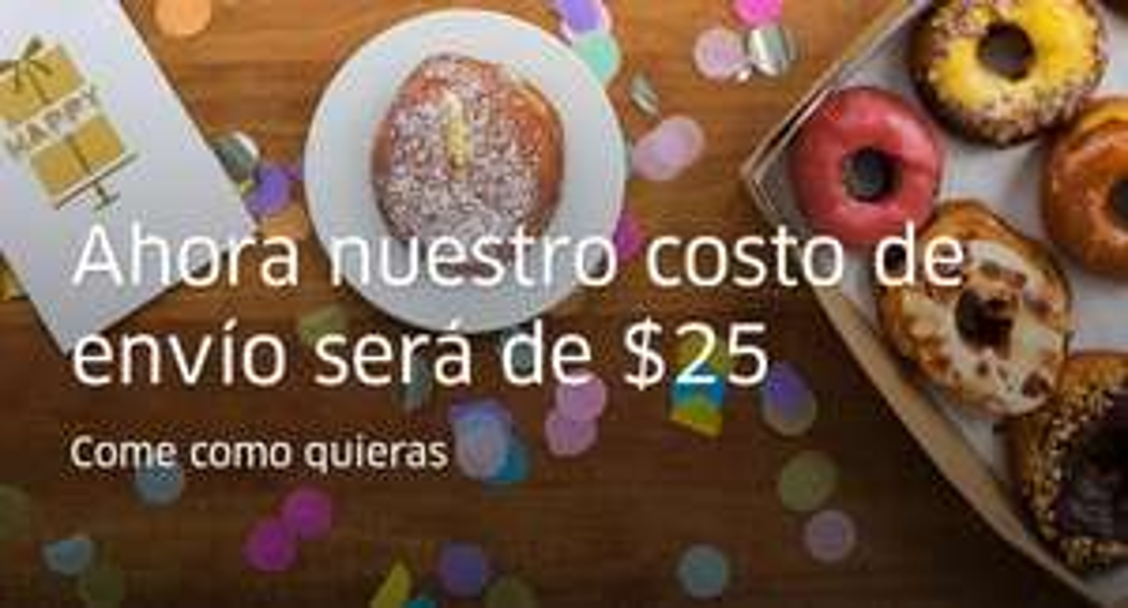 Uber Eats: baja el precio de sus envíos a  $25 MXN.