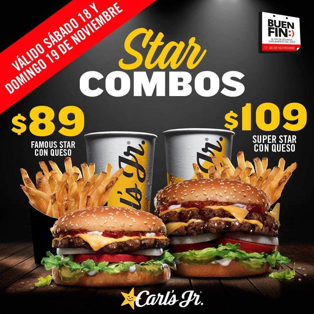 Ofertas Buen Fin 2017 Carl's Jr: promociónes en Combo desde $89