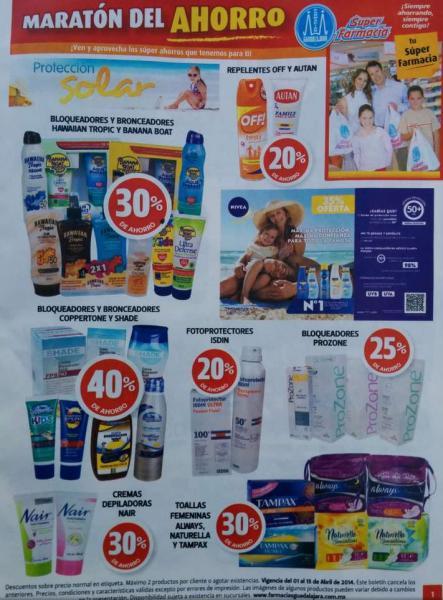 Folleto de ofertas en Farmacias Guadalajara del 1 al 15 de abril de 2014
