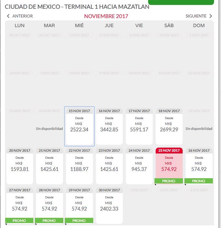 VUELO CIUDAD DE MEXICO - TERMINAL 1 HACIA MAZATLAN CON VIVA AEROBUS $580