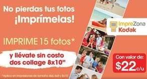 "OfficeMax: 2 collages 8x10"" gratis imprimiendo 15 fotos"