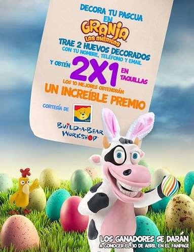 Granja las Américas: 2x1 llevando dos huevos decorados