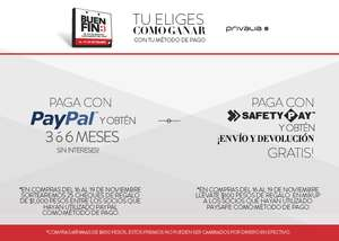 Buen Fin 2017 en Privalia: 2 promos escoge la que quieras!!!