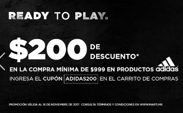 Martí: $200 DE DESCUENTO EN PRODUCTOS ADIDAS
