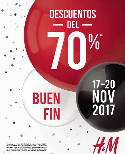 H&M: Buen Fin 2017: Descuentos del 70% en mercancía marcada con etiqueta roja